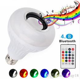Wireless Light Controls Australia - Wireless 12W Power E27 LED Rgb Bluetooth Speaker Bulb Light Lamp Music Playing & RGB Lighting with Remote Control New