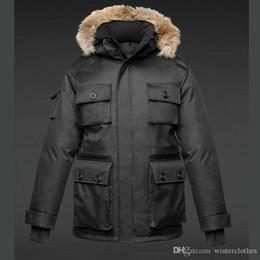 $enCountryForm.capitalKeyWord Australia - Thick Coat Bomber Jackets Canadian Mens Windbreaker Winter Outdoor Male Puffer Coat Real Fur Outerwear Parkas