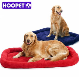 Wholesale HOOPET Large Dog Bed Big Size Pet Cushion Warm Sleeping Bed Golden Retriever Cage Mat Pet House Mat Pad