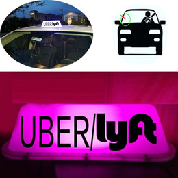 Roof Magnet Australia - DC12 UBER&LYFT Sign Taxi Cab Sign Roof Top Topper Car Bright Light Strong Magnet PINK
