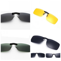 820897c7681a3 Clip sunglasses driving online shopping - Rimless Sunglasses Clip Polarized Sun  Glasses Clips Night Vision Mirror