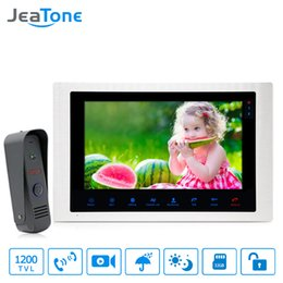 $enCountryForm.capitalKeyWord Australia - JeaTone 10'' 4 Wired Video Door Phone Video Intercom Access Control Touch Button Motion Detection Apartment Security System Kit