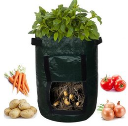 Patio flooring online shopping - New Patio Outdoor Vertical Garden Hanging Open Style Vegetable Planting Grow Bag Potato Strawberry Planter Bags For Growing Potatoes