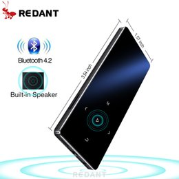 Voice Music Speakers Australia - REDANT MP3 Player with bluetooth and Speaker 1.8 Screen touch keys hi fi fm radio mini sport MP 3 music player portable walkman