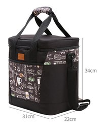 $enCountryForm.capitalKeyWord Australia - 6L-22L New patch black color Insulated Picnic Cooler Bags Cake Pizza Lunch Picnic Box Insulated Cool Handbags Ice Pack Thermo