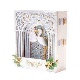 Chinese  3D Vignettes Metal Cutting DiesGrand Arch 3D Card Etched Dies Elegant Collection For DIY Scrapbooking Paper Card Craft manufacturers
