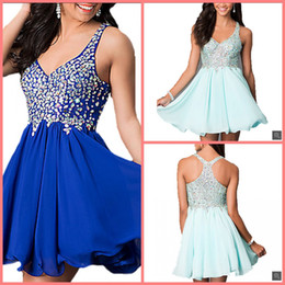 $enCountryForm.capitalKeyWord Australia - 2019 free shipping short a line heavily beaded crystals informal prom dress petite girls sleeveless chiffon v neck prom gowns best selling
