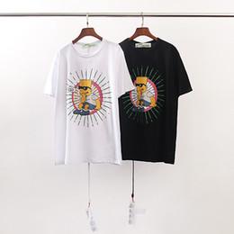 55cf27295 100% Off 2019 Summer High Quality Designer Men's Clothing White T-Shirts  Print Fashion Tees EURO Size S-XL OW1041