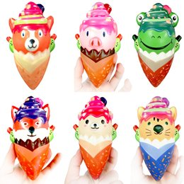 $enCountryForm.capitalKeyWord Australia - New Squishy Simulated Ice Cream Soft PU Scented Slow Rebound Pipet Animal Cone for Children and Adult Decompression Toys DHL Free