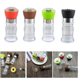 $enCountryForm.capitalKeyWord NZ - Rose Rock Salt and Pepper Shakers Spice Container Seasoning Jar Can Handy Manual Grinding Tool Grinder Bottle Pot Glass Kitchen Tool 50pcs