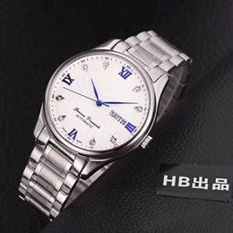 Japanese dress buckle online shopping - AAA luxury men s wristwatch high grade stainless steel Japanese automatic core fashionable business dress watch date sapphire glass