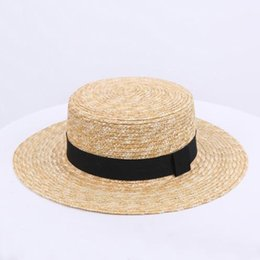 ceeb2be5e2eeeb 2019 new hot sale comfort wild straw straw hat female spring and summer bow  small hat British retro shade beach tide