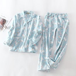 $enCountryForm.capitalKeyWord Australia - 2019 New Pajamas Women Kawaii Cartoon Pajamas 100% Brushed Cotton Female Cute Night Suit Long Sleeve Sleepwear Big yard S-L