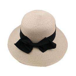 5b710658 Girls Wide Brim Sun Hat UK - 2019 new hot sale net red with straw hat