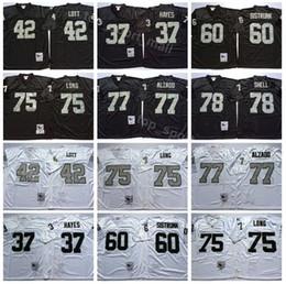 RaideR white online shopping - Oakland Vintage Football Raiders Ronnie Lott Jersey Man Lester Hayes Howie Long Lyle Alzado Art Shell Black White