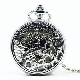 $enCountryForm.capitalKeyWord UK - Top Band Mechanical Hand Wind Double Cranes Hollow Skeleton Unisex Silver Design Pocket Watch for Men Women PJX1234