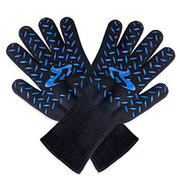 $enCountryForm.capitalKeyWord Australia - professional Extreme Heat Resistant Glove Outdoor Cooking Kitchen Barbecue Oven Gloves BBQ Grill Long For Extra Forearm Protection BBQ Tools