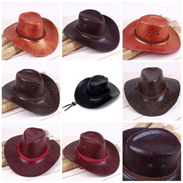 0db10caa5b701 Men And Women West Cowboy Hat Summer Straw Weaving Wide Brim Hats Black Sun Cap  Ventilate Outdoor Hot Sale 7 5csG1