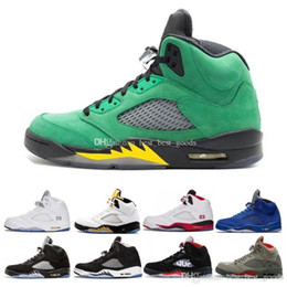 grapes shoes UK - Og Black Metallic 3m Reflect White Grape Oreo Man Basketball Shoes Sneaker 5s Red Suede Bred Wings Aqua Men Sports Sneakers Size 8-13