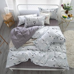 3d duvet set king size online shopping - Dogs Bedding Set King Size Cute Cartoon Fashionable Fresh Duvet Cover Queen Twin Full Single Comfortable Bed Cover with Pillowcase
