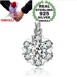 snowflakes pendant NZ - OMHXZJ Wholesale geometric Snowflakes woman fashion kpop star 925 sterling silver pendant Charms PE66 ( NO Chain Necklace )