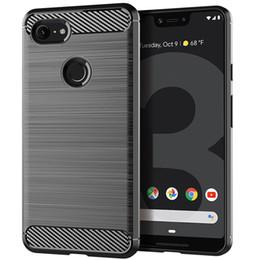 320e049a9ce Soft TPU Silicone Case Brush-Finish Phone Cover For Google Pixel 3 XL 2XL Samsung  J7 J4 Plus 2018 A3 A5 A7 2018