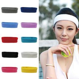 Cotton Head Sweatband Australia - Multicolor Unisex Cotton Sports Headband Sweat Sweatband Headband Yoga Gym Stretch Head Band For Basketball Riding Sport #726995