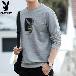 PLAYBOY New Fashion Style Sweatshirt Men Casual Street Hoodies Brief gedruckt Pullover schwarzes Sweatshirt Pullover Männer Y191111