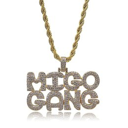 Mens Vintage Necklaces Australia - mens necklace hip hop jewelry with Zircon iced out chains Vintage cute alphabet Pendant necklace stainless steel jewelry wholesale