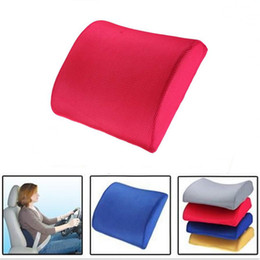 Office Chair Support Australia - Toyl Memory Foam Lumbar Back Support Cushion Relief Pillow For Office Home Car Auto Travel Booster Seat Chair 4 Colors C19041201