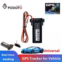 $enCountryForm.capitalKeyWord UK - Podofo Newest Mini GPS Tracker Vehicle Tracking Device Motorcycle Car GSM SMS locator with Real Time Tracking System Built-in