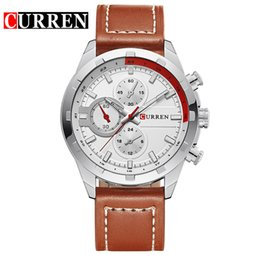 Round Clock Men Australia - CURREN Quartz Watch Men Watches Top Brand Luxury Famous Wristwatch Male Clock Wrist Watch Luminous watch Relogio Masculino 8216