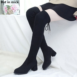 over knee snow boots Australia - new women Casual Over-the-Knee boots women high heels pumps Party dress snow boots women Thigh High Boots woman botas mujer T116