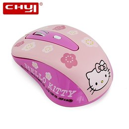 5ce9171eb CHYI Hello Kitty Wireless Mouse Computer Mouse 800-1200-1600DPI Adjustable  Wireless Optical PC Gaming Mause Pink Mice For Girls