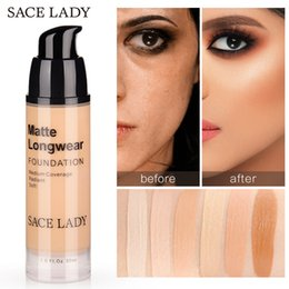 $enCountryForm.capitalKeyWord Australia - SACE LADY Face Foundation Makeup Pro Perfect Concealer Base Make Up For All Skin Matte Cream Oil Control Liquid Best Natural Cosmetic 30ml