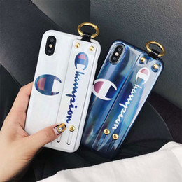 $enCountryForm.capitalKeyWord Canada - One Piece Fashion alphabet Phone Case for iphone Xr XS MAX X 6s 6plus 7 8 plus with Hand strap Back Cover