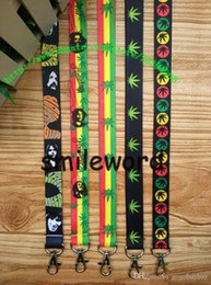 New Cell Phone Charm Australia - New Wholesale - 10pcs Cartoon Bob Marley Rasta Cell Phone Straps & Charms   neck Lanyard Key Chain