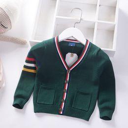 $enCountryForm.capitalKeyWord Australia - 2019 Autumn Winter New Knitted cardigan boy Kids Sweater v-neck Children Clothing Spring Baby Long sleeve stripe Boys Coat 1-6y