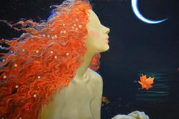 $enCountryForm.capitalKeyWord Australia - Hot Art Wall Decor Fantasy Vintage Mermaid Oil painting Picture Printed on Canvas series Reproduction Modern office Living Room Decor V062