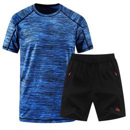 $enCountryForm.capitalKeyWord NZ - 2018 Summer Men Sportswear Gym Clothing Sport Suit Basketball Shirts Jogging Pants Beach Shorts Gym Fitness Running Sets 2xl-5xl SH190706
