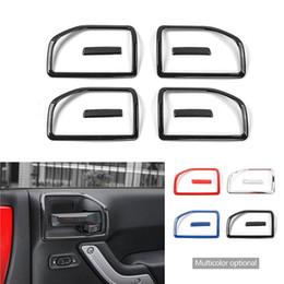 $enCountryForm.capitalKeyWord Australia - 4Doors Interior Door Handle Bowl Cover And Handle Patch for Jeep Wrangler JK 2011-2017 Car-styling InteriorAccessories
