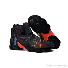 Size 13 Kids Shoes UK - Lebron 13 mens basketball shoes for sale MVP Christmas BHM Blue Easter Halloween Akronite DB youth kids sneakers boots with Size 7 12