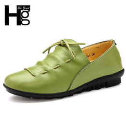 Comfortable Soft Women Shoes Australia - Designer Dress Shoes HEE GRAND Soft PU Leather Low Heel Women's Pumps Lace up Loafers Comfortable Leisure Mother Woman XWD3934