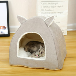 $enCountryForm.capitalKeyWord Australia - Portable Rabbit Design Cat House With A Hole Warm Soft Pet Beds Tent Removable Washable Cats Nest Litter Puppy Kennel