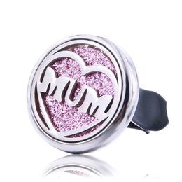 Metal Air Australia - Creative Mom Car Air Diffuser Stainless Steel Vent Freshener Car Essential Oil Diffuser Perfume Aromatherapy Fine Open Locket