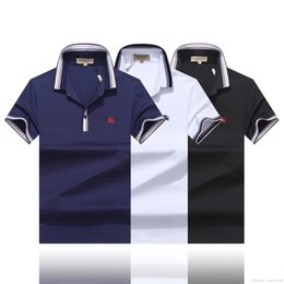 $enCountryForm.capitalKeyWord NZ - Latest model fashion men polo shirt 2019 casual stripe collar Solid Color polo shirt summer Cotton men short-sleeved polo shirt M-3XL