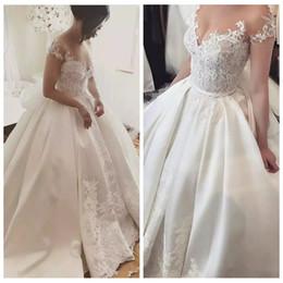 $enCountryForm.capitalKeyWord Australia - Elegant Ball Gown Wedding Dresses Cinderella Plus Size Off The Shoulder Lace Country Church Wedding Dress Vintage Fantastic Bridal Gown 2019