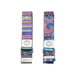 Cotton Webbing Belts Australia - Gradient Fitness Yoga Exercise Adjustable Straps Super Soft Cotton Polyester Blend Webbing Digital Printing Fitness Stretch Belt