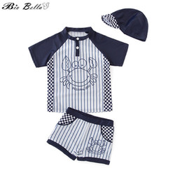 $enCountryForm.capitalKeyWord NZ - Children Swimwear For Boys Infant Baby Swimsuit Swimming Bathing Surfing Swimsuits Suit Casual Summer Kids Swimwear Suit 2-7Y