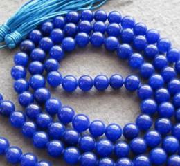 $enCountryForm.capitalKeyWord Australia - necklace Free Shipping >> Rare 108 blue jade 8mm Beads Buddhist Prayer Mala Necklace